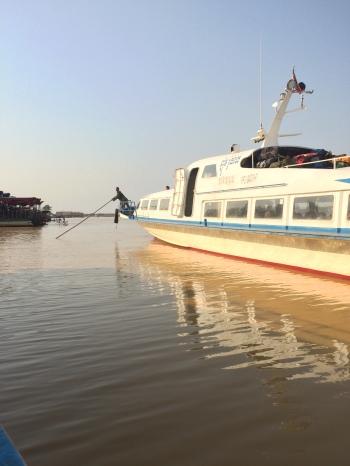 Départ du bateau de Phnom Penh